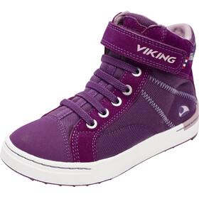 Viking Sagene Mid GTX Shoes Kids Plum/Old Rose